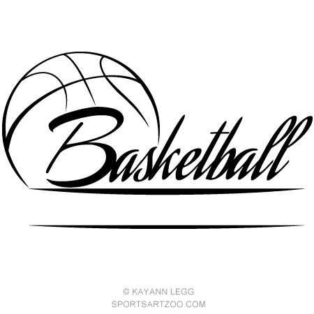 Basketball clipart banner. Sportsartzoo