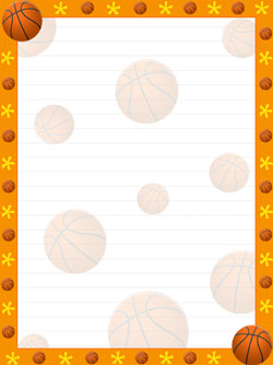 Printable stationery treats com. Basketball clipart banner