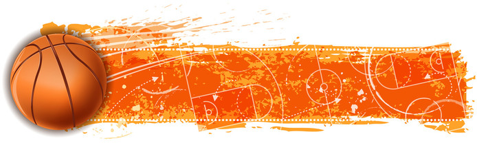 Basketball clipart banner.  images of pennant