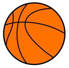 Sports image of girl. Basketball clipart basic
