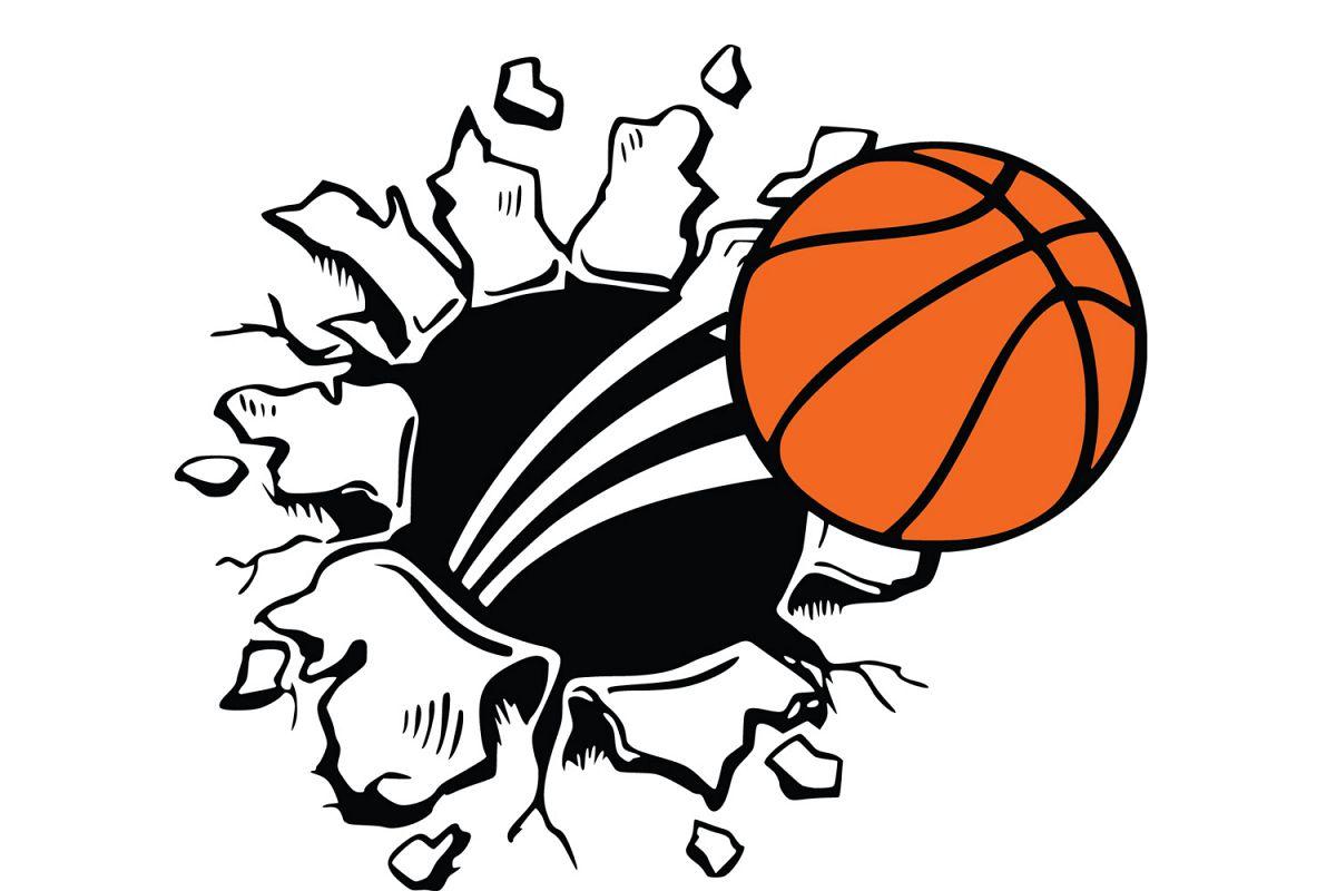 Basketball clipart basic. Svg vector
