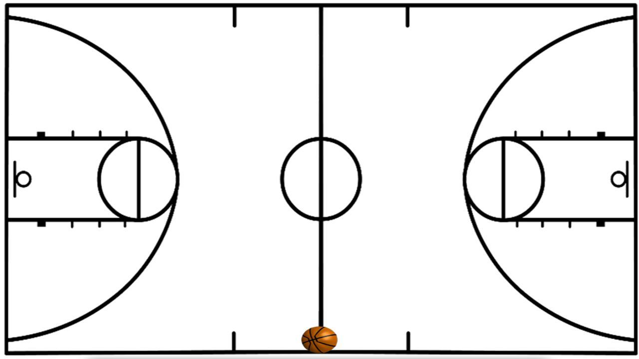 Half panda free images. Basketball clipart basketball court