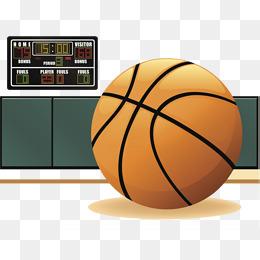 Scoreboard for cartoon game. Basketball clipart basketball court