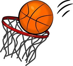 Girls black and white. Basketball clipart basketball game