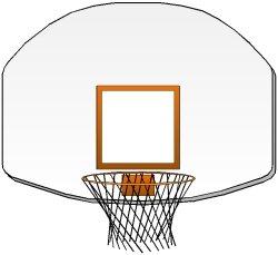 Clipart basketball basketball goal. Court hoop