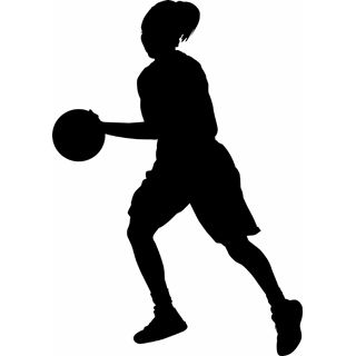 Basketball clipart basketball player. Silhouette at getdrawings com
