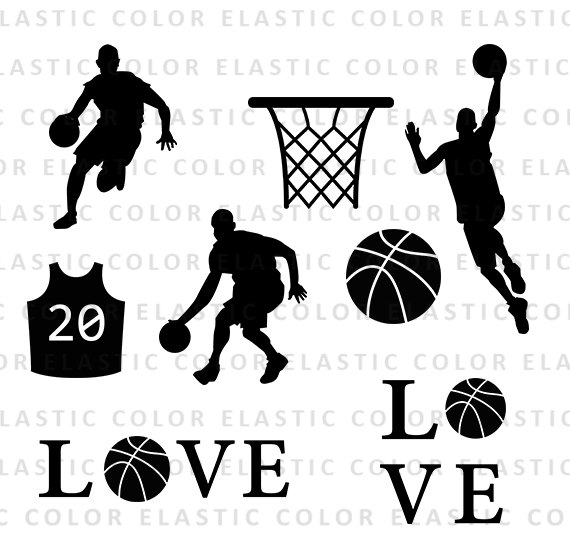 Svg silhouette digital download. Basketball clipart basketball player