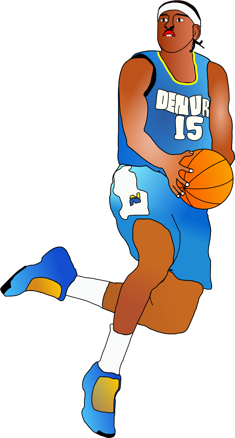 Male clipart animated. Basketball player