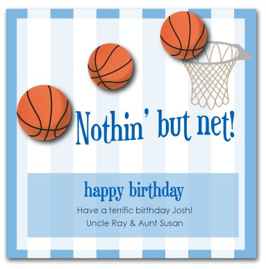 Basketball clipart birthday. Printable card template