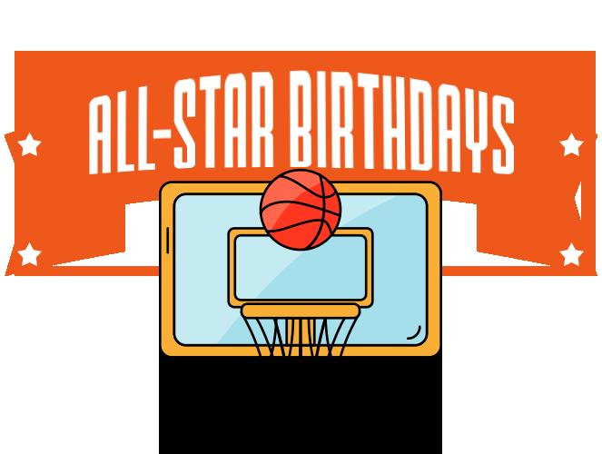 Basketball clipart birthday. Parties at dubai stars