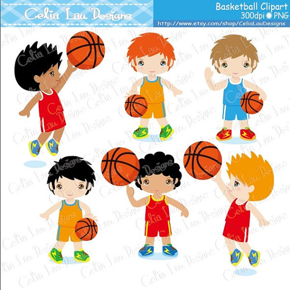 Party clip art . Basketball clipart birthday