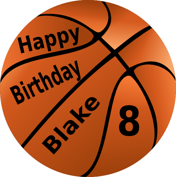 Basketball clipart birthday. Happy clip art at
