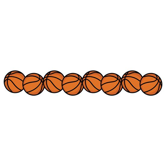 Rbs basketballs layered border. Basketball clipart boarder