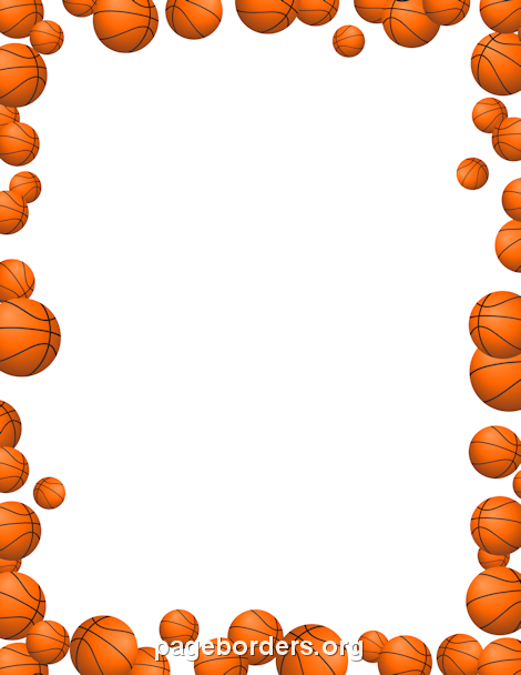 Basketball clipart boarder. Printable basketballs border use