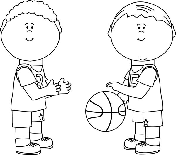 Body basketball free on. Boys clipart black and white