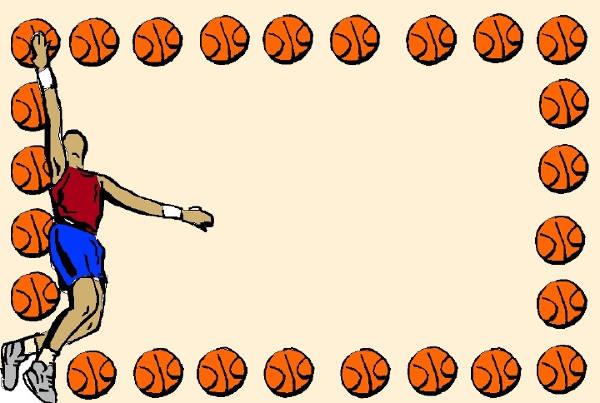 Basketball clipart border.  cliparts free vector