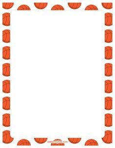Basketball clipart border. Printable basketballs use the
