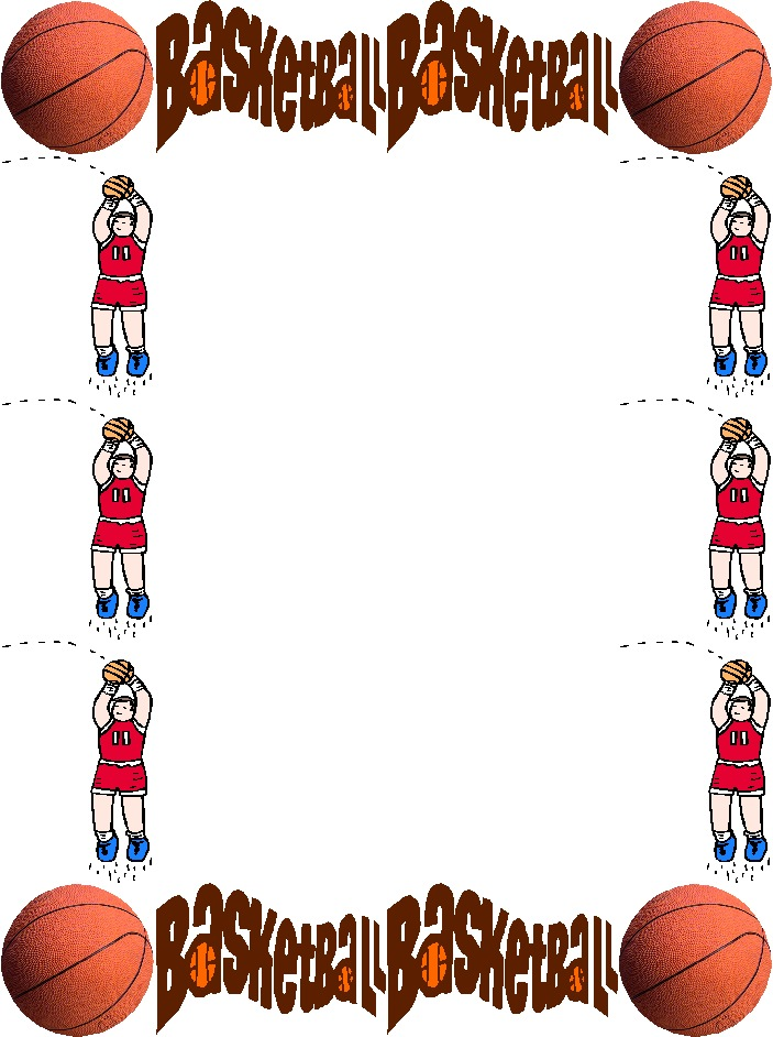 Basketball clipart border. Free frame cliparts download