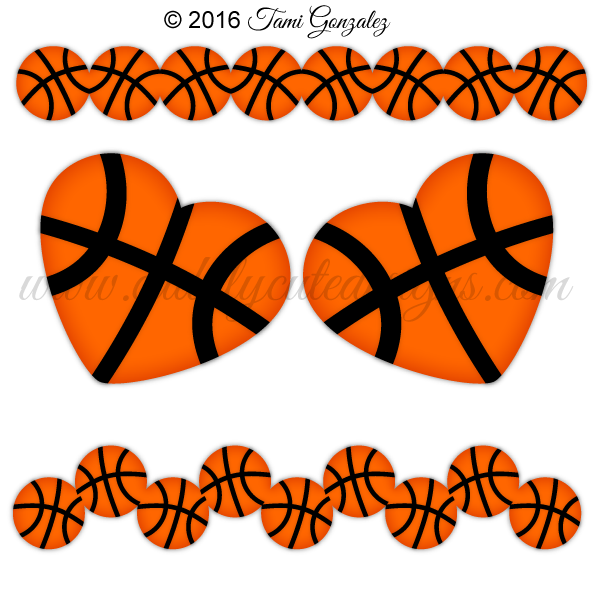Basketball clipart border, Basketball border Transparent