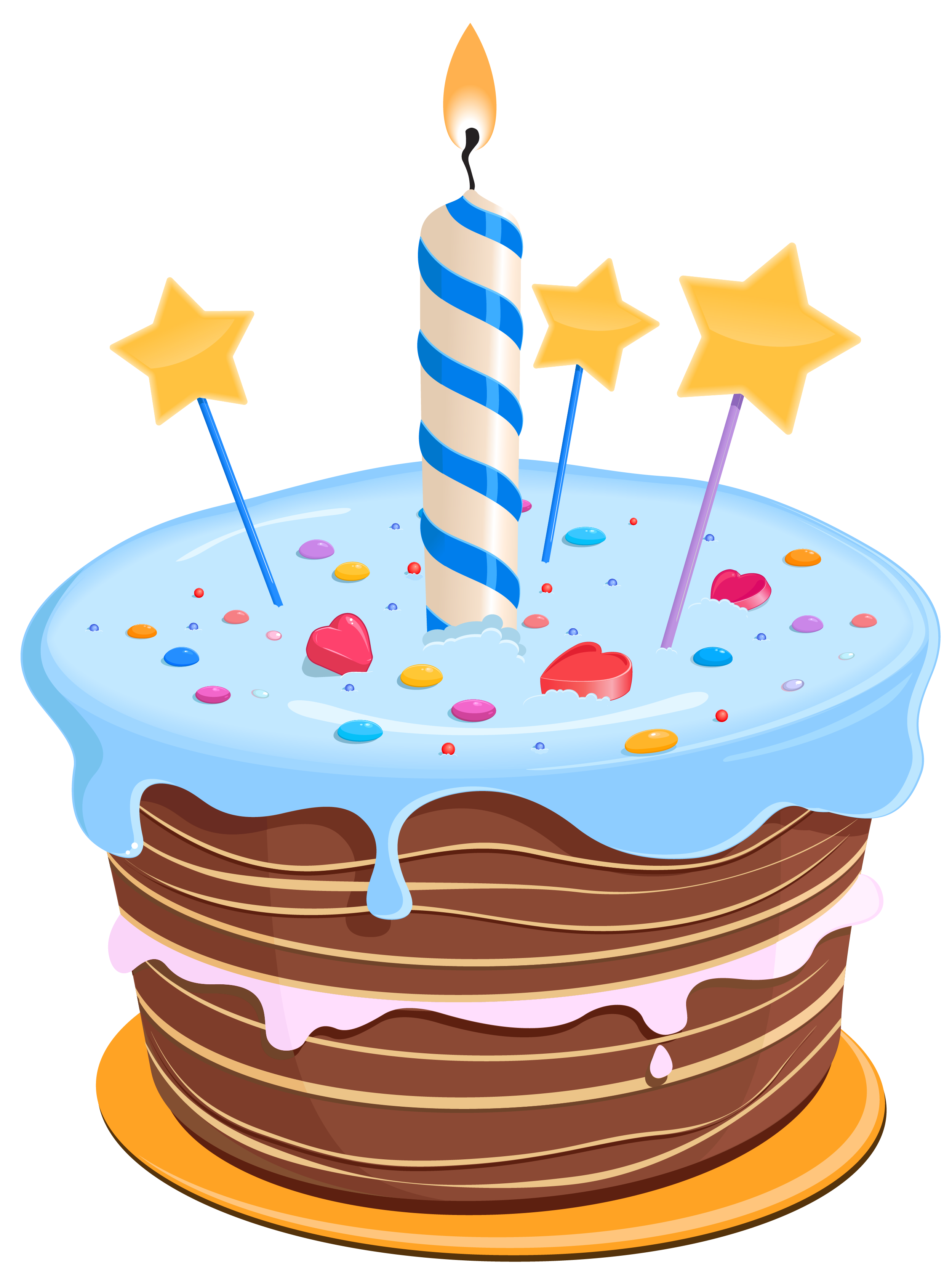 Clipart stars cake. Download birthday free png