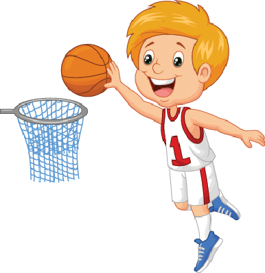 Boys clipart basketball player. Little boy playing the