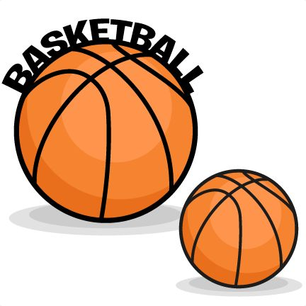 Basketball clipart cute. Silhouette at getdrawings com