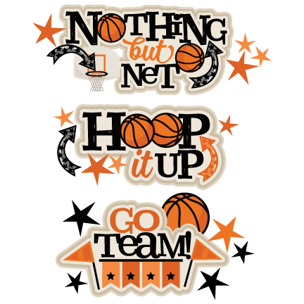 Basketball clipart cute. Titles svg scrapbook cut