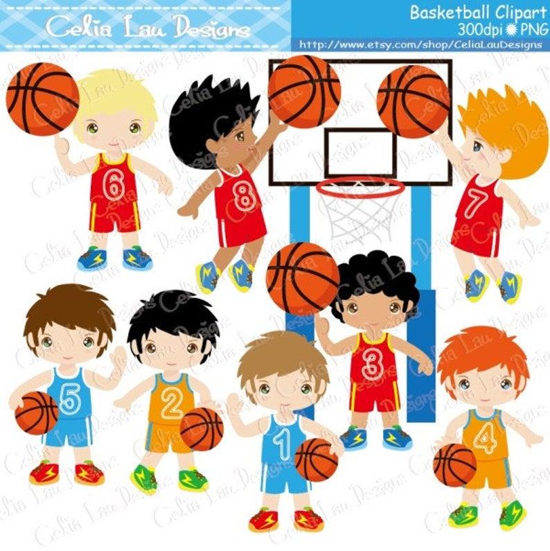 Birthday party clip art. Basketball clipart cute