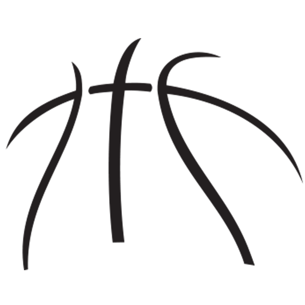 Stylist design logo captivating. White clipart basketball