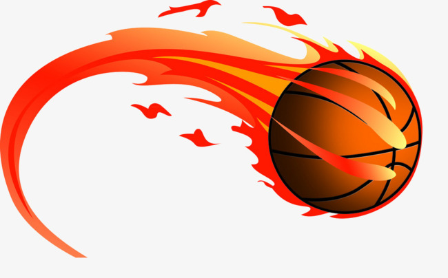 Red png image and. Basketball clipart flame