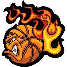 Free printable clip art. Basketball clipart flame
