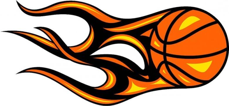 Basketball clipart flame. Flaming logo ajaxoop org