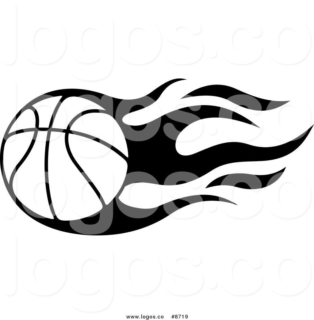 Basketball clipart flame. Logo design flames new