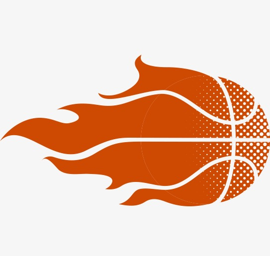Red sports equipment png. Basketball clipart flame