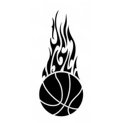 Logo design flames lovely. Basketball clipart flame