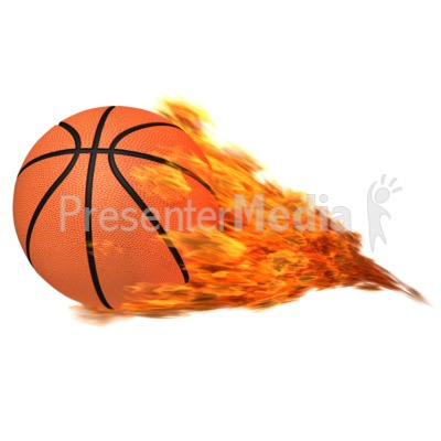 Flaming sports and recreation. Basketball clipart flame