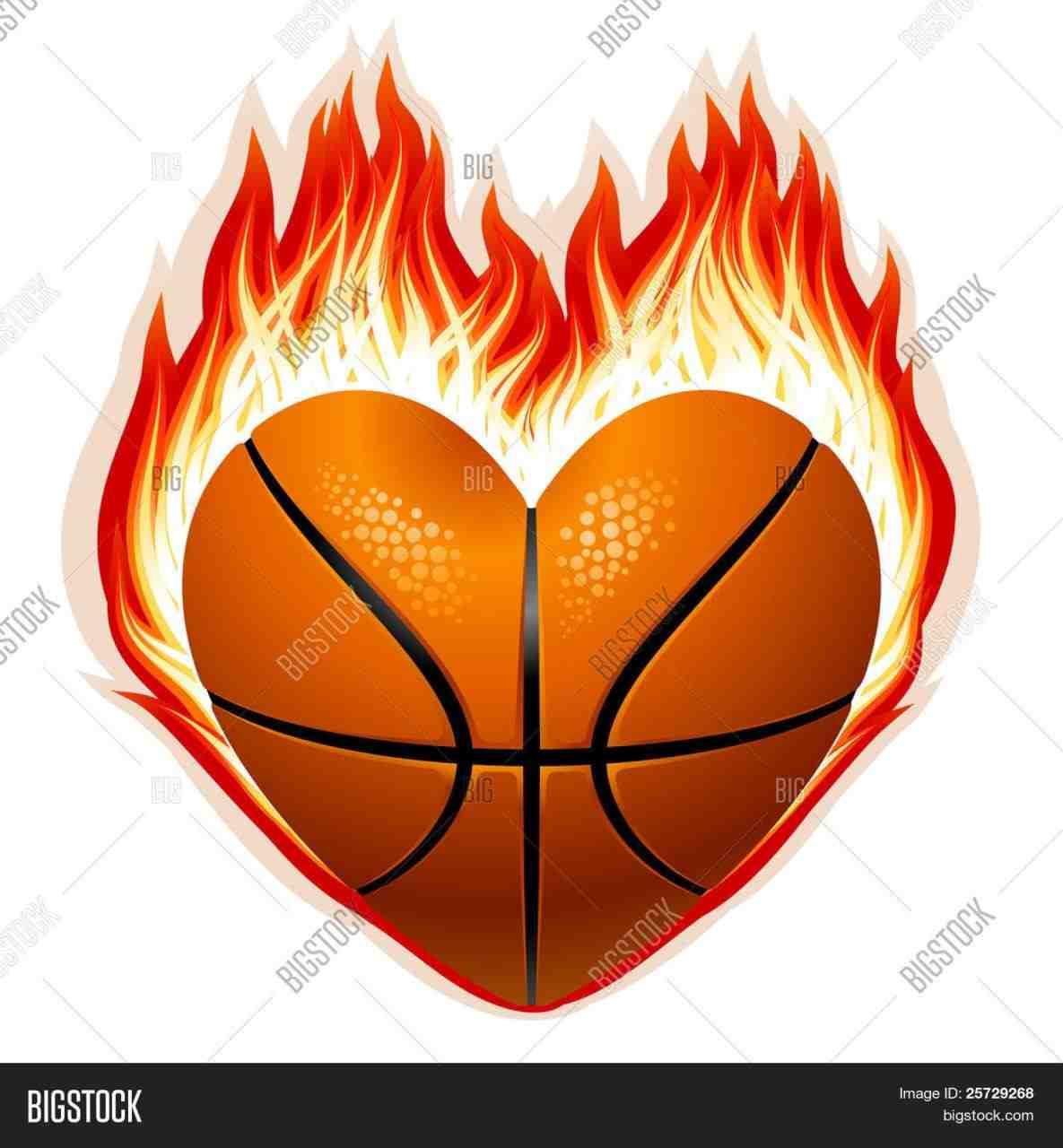Basketball clipart flame. Logo of ball template