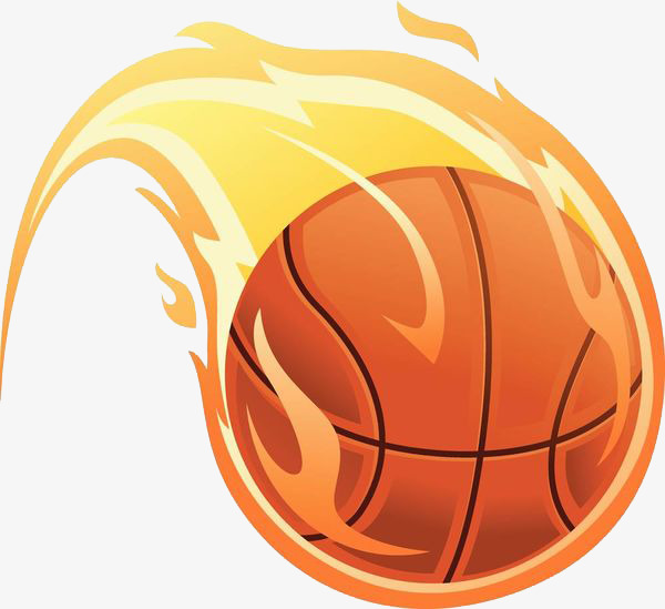 Basketball clipart flame. Cartoon fire png image