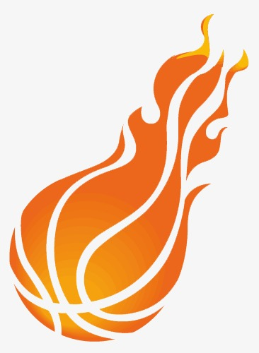 Abstract art movement pattern. Basketball clipart flame