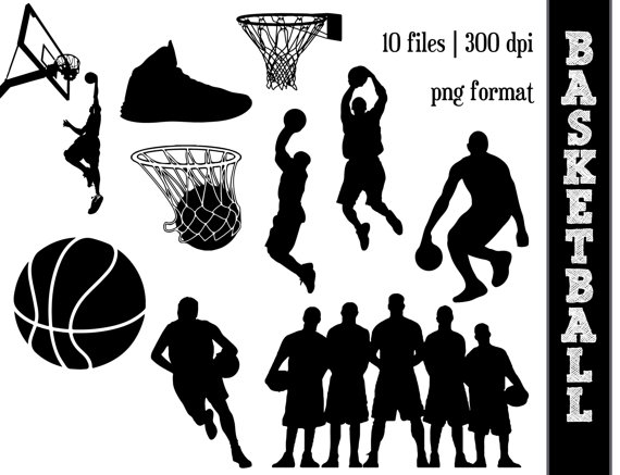 Athlete clipart basketball. Silhouettes sports silhouette ball