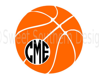 Etsy svg instant download. Basketball clipart monogram