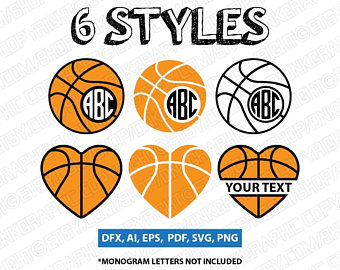 Basketball clipart monogram. Split svg etsy styles
