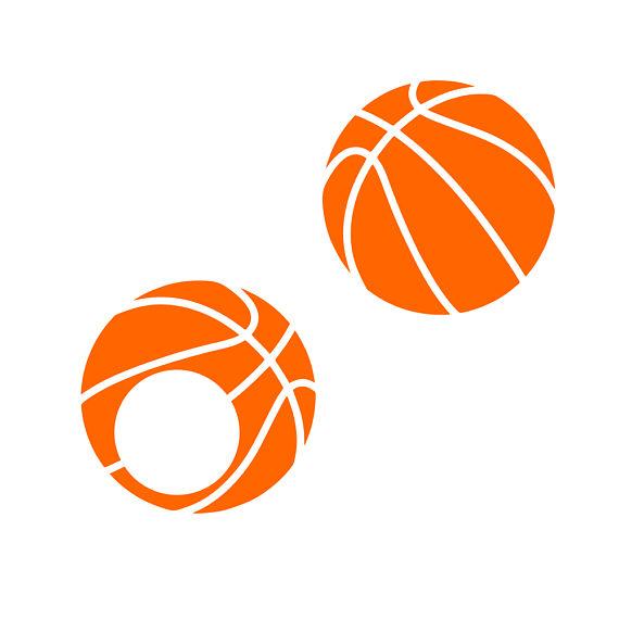 Basketball clipart monogram. Svg vector cut