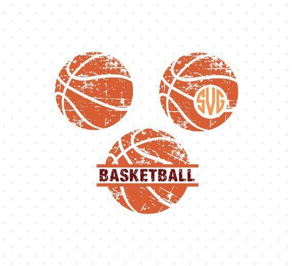 Basketball clipart monogram. Svg distressed ball grunge