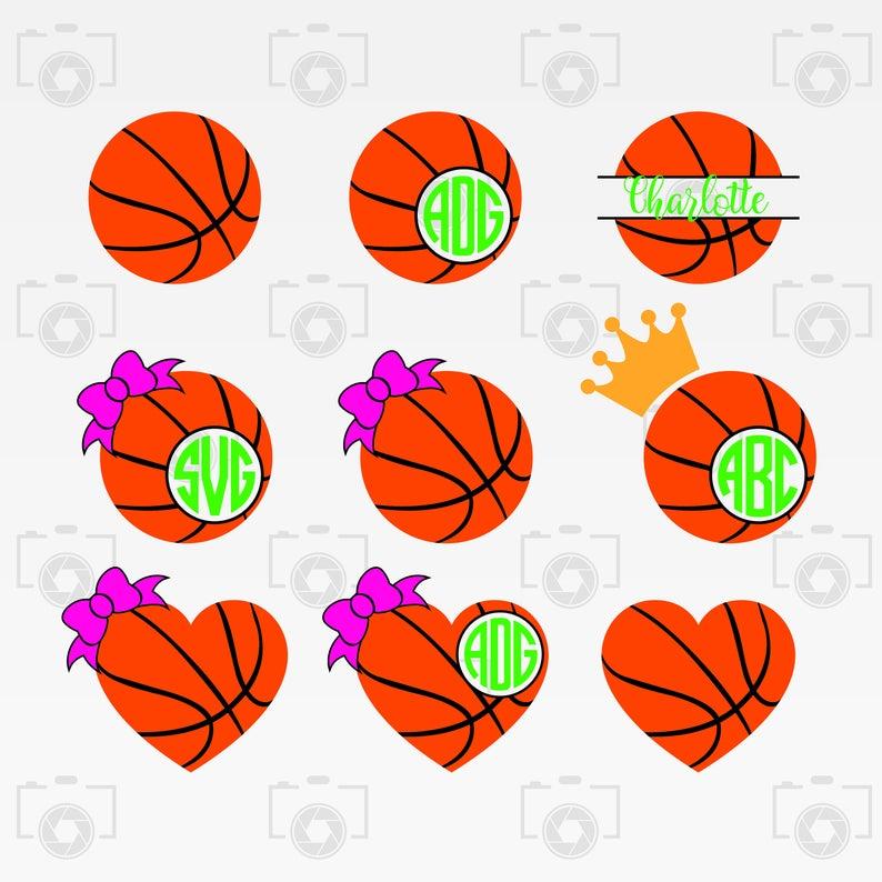 Svg digital for design. Basketball clipart monogram