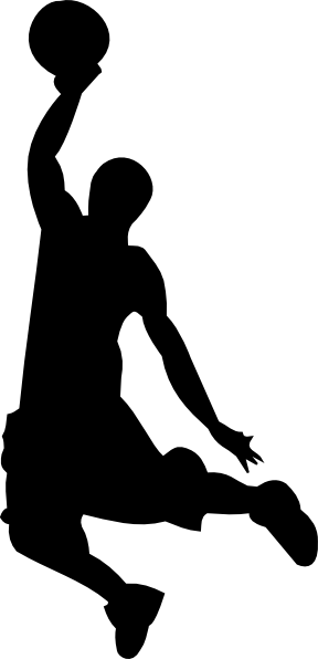 Silhouette clip art at. Basketball vector png