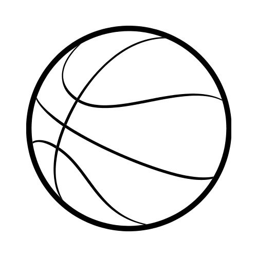 Basketball clipart simple. Drawing free download best