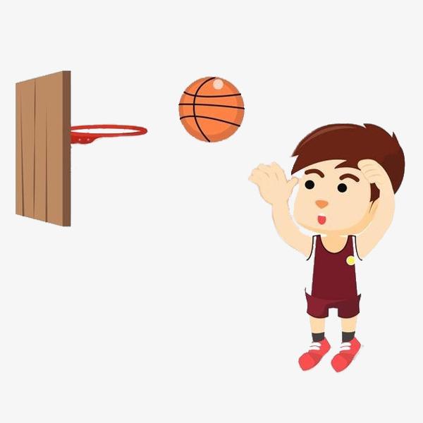 Basketball clipart simple. Playing boy cartoon pen