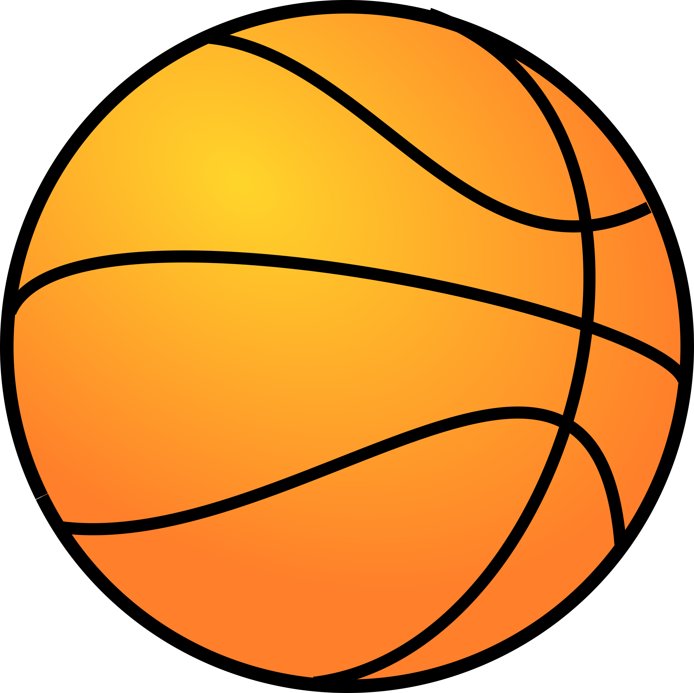 Basketball clipart simple.