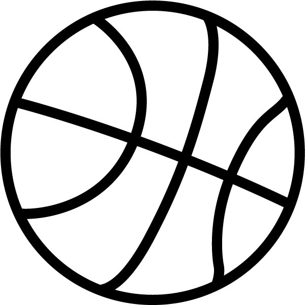 Basketball clipart simple. Clip art free download